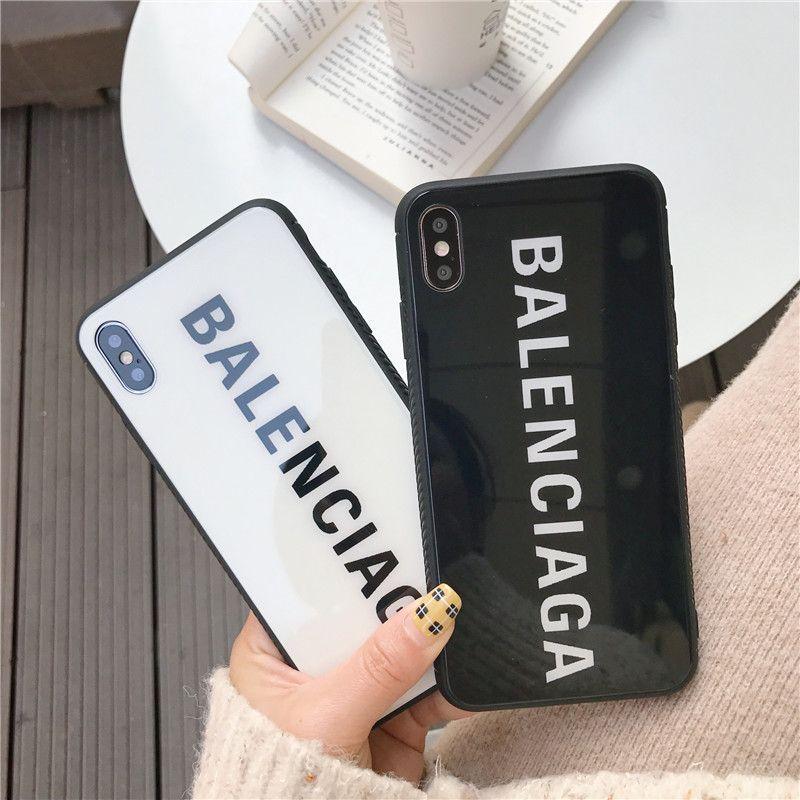 Luxury france paris brand balenci glass iphone case in