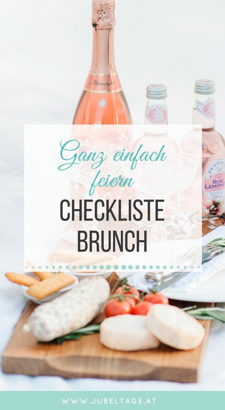 Checkliste & Ideenliste für ein festliches Frühstück oder einen Brunch mit Rezeptidee
