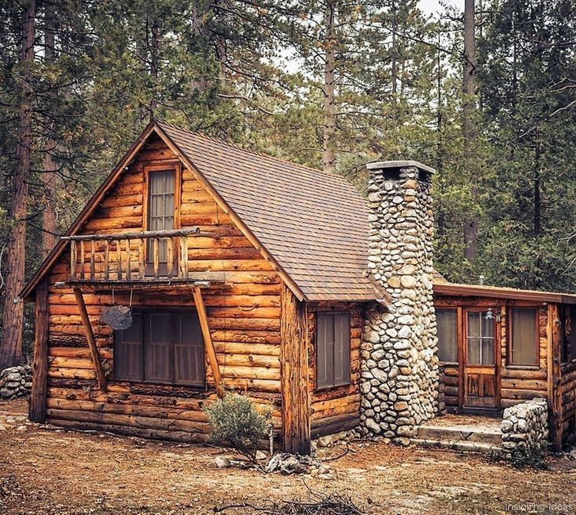 Adorable 99 Stunning Log Cabin Homes Plans Ideas Https Lovelyving Com 2018 02 03 99 Stunning Log Cabin Homes Pla Log Cabin Homes Rustic Cabin Small Log Cabin