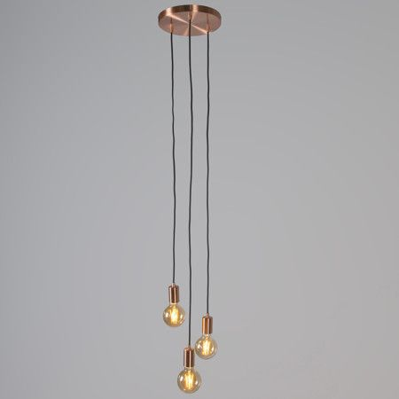 Lámpara colgante FACIL 3 cobre | Lámpara colgante, Cobre y Barra cocina