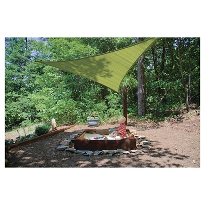 Shelter Logic Triangle Sun Shade Sail Lime Green 16 230 Gsm