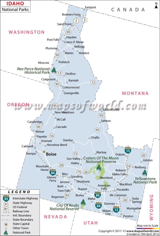 Idaho National Parks National Parks Map Hiking National Parks National Parks
