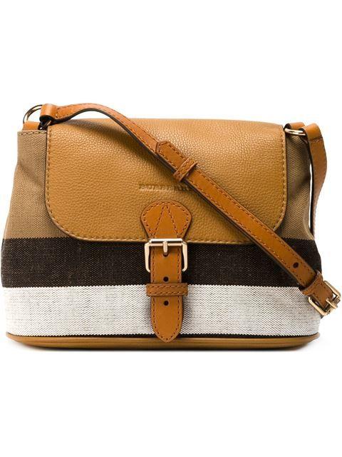 fdffe4c1399f Burberry check canvas crossbody bag