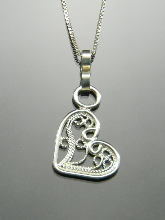 Silver filigree heart pendant sterling by selectjewelrydesigns silver filigree heart pendant sterling by selectjewelrydesigns mozeypictures Choice Image