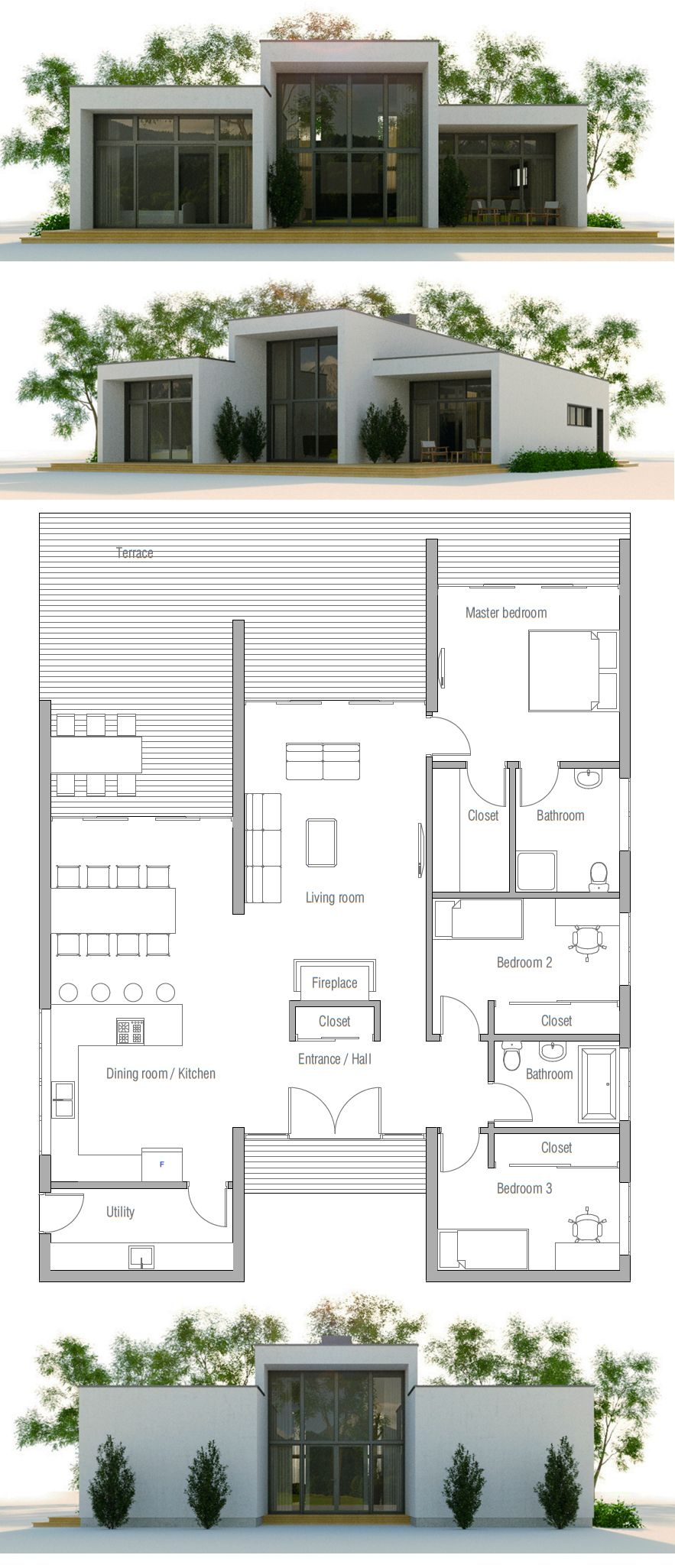 Modern Minimalist House Plan Little House Love House Plans