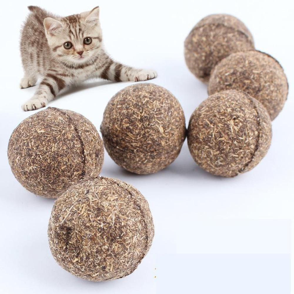 Pet Cat Natural Catnip Treat Ball Favor Home Chasing Toys Healthy Safe Edible Treating Seeds Hydrangeas Gard Pet Cat Toys Cats And Kittens Cat Pet Supplies