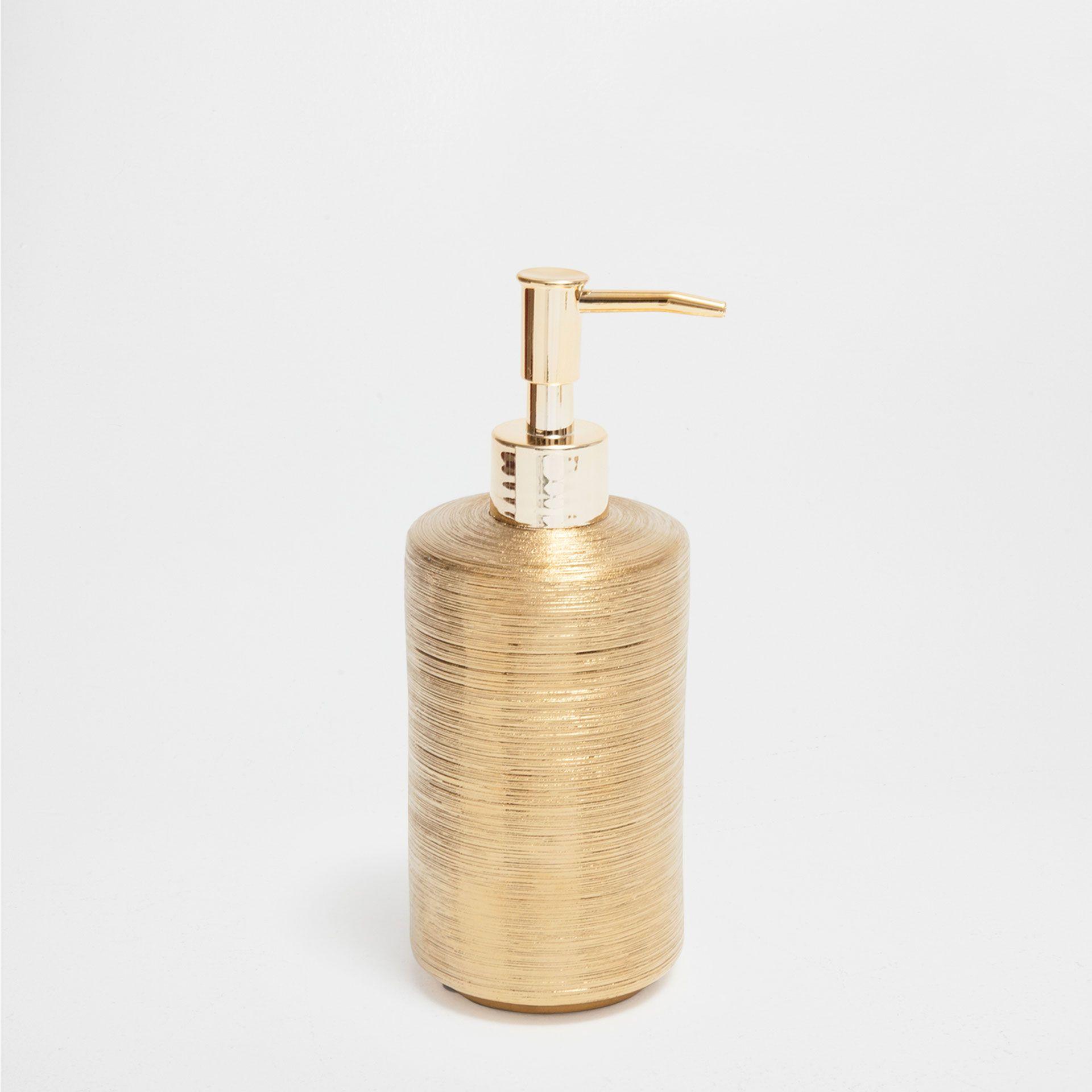 SCORED GOLDEN CERAMIC BATHROOM SET Hotel Collection Bathroom