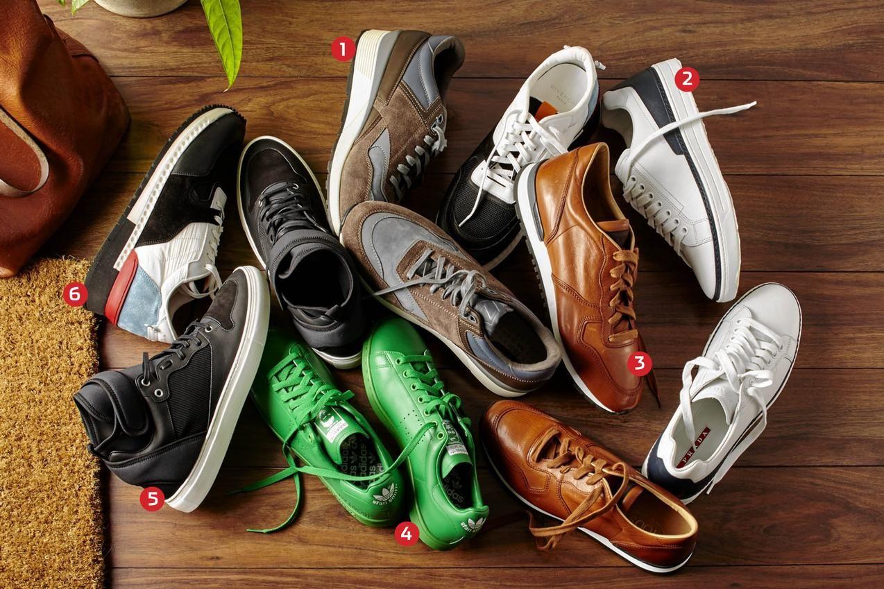 1. Z Zegna Techmerino Racers, $395, zegna.com; 2. Sneakers, $720, prada.com 3. Sneakers, $625, Tod's,...