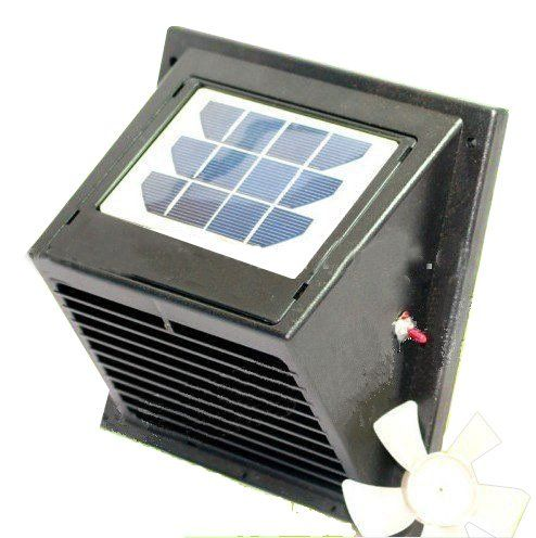 Norestar Wall Solar Powered Vent Fan For Boat Bathroom Basement Greenhouse Shed And More