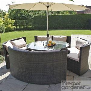 Maze Rattan Dallas Sofa Garden Furniture Set Outdoor Furniture