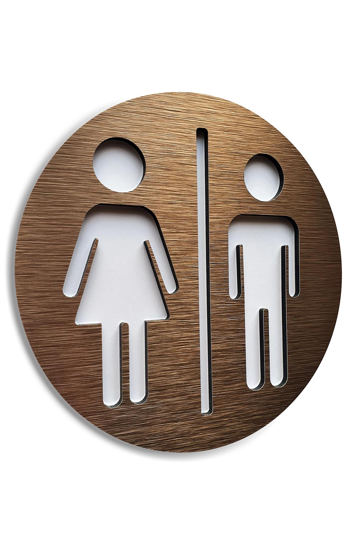 Bronze Aluminium Male And Female Bathroom Sign Wc Square Signage Restroom 4 7 X 4 7 Plaque Bathroom Signs Toilet Sign Toilet Logo