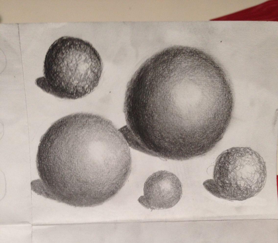 shading spheres practice