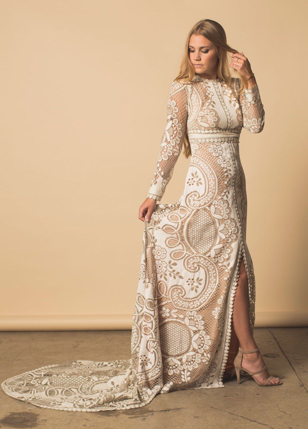 Wedding dress boho wedding dress lace wedding dress vintage