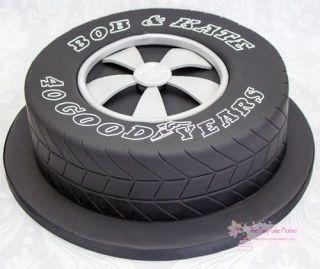 Tyre Cake Birthday Boy Pinterest Tire cake Tired and Cake