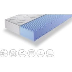 Photo of 7-zone cold foam mattress – white – 90 cm – 20 cm – mattresses & slatted frames> mattress types> cold