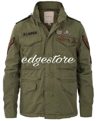 Details about Denim Supply Ralph Lauren Men Military Army