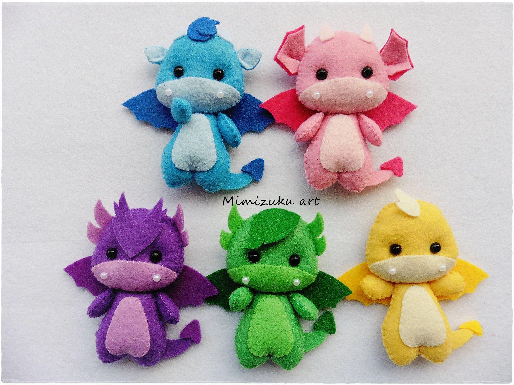 Dragon felt Mobile, Dragons Baby Mobile, Dragons Nursery Decor, Cute dragons, Fantasy Nursery Decor, Baby Shower Gift, colors Dragons Mobile