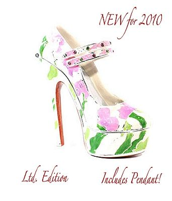 2010 Just the Right Shoe,  SPRING FLING JEWEL BOX AND CHARM