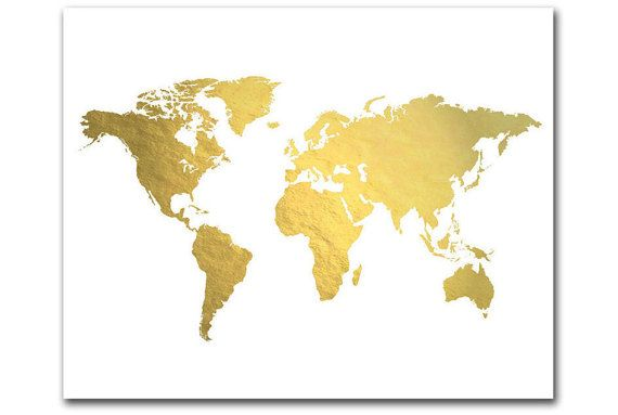 A trendy genuine gold foil world map perfectly brilliant and a trendy genuine gold foil world map perfectly brilliant and shiny this gumiabroncs Images