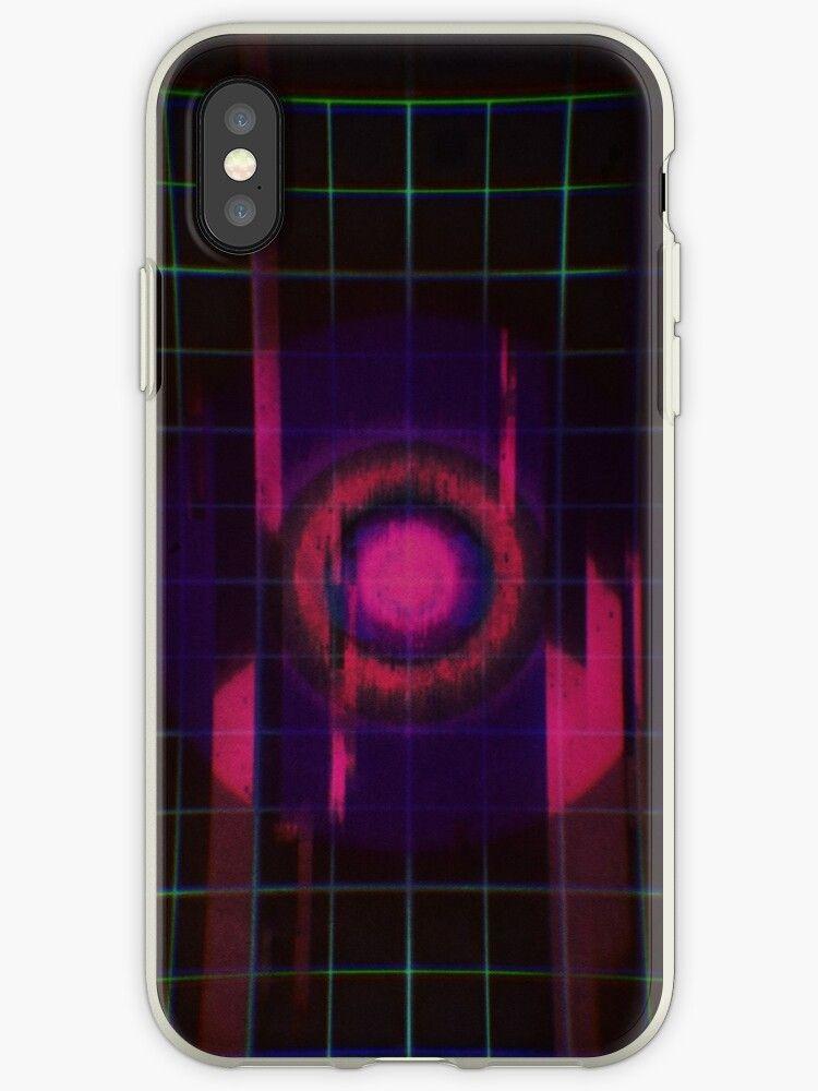 glitch anime girl phone case