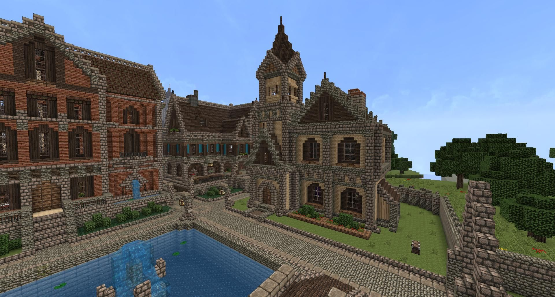 exciting a big house in minecraft. Bildergebnis f r medieval minecraft homes Galleries Related  Cool Small Minecraft House Ideas