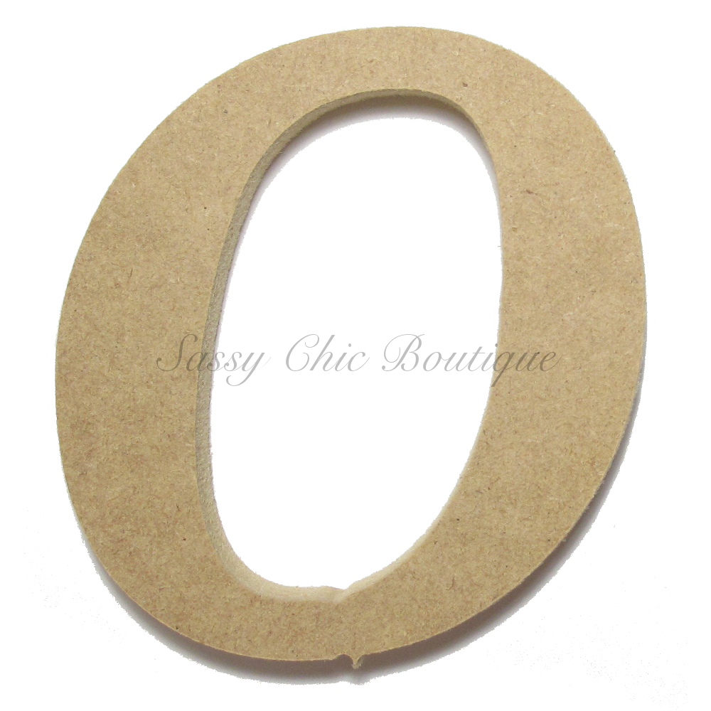 Unfinished Wooden Lowercase Letter O Lucida Calligraphy Font