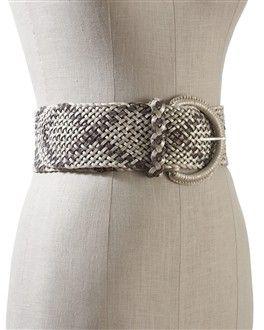 White House Black Market- woven metallic belt- such a great belt!