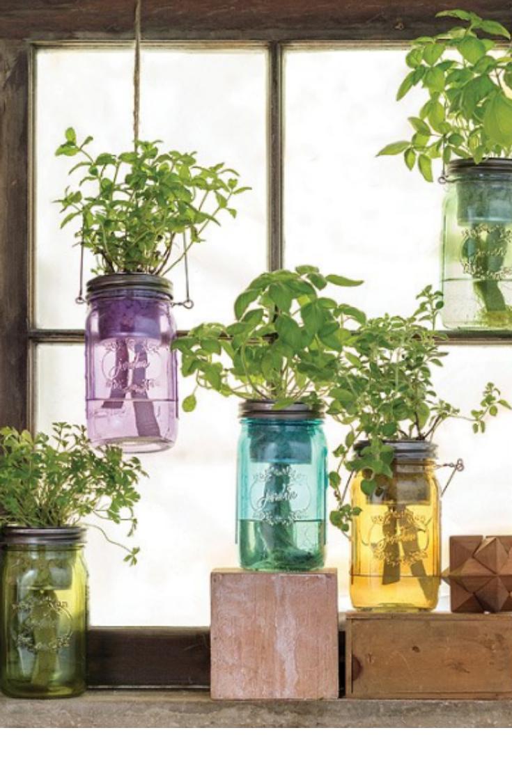 combine farmhouse style with modern hydroponics easy on indoor herb garden diy wall mason jars id=69428