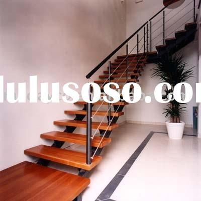 Steel Wood Staircase ( Double Steel Stringer)