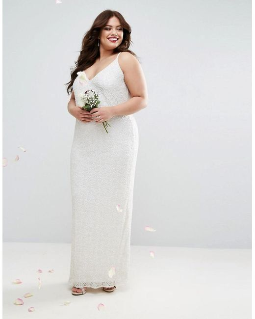 552f927b599 Asos Curve offers a Cami Embellished Maxi Dress ( 271) that s cool and  sophisticated.