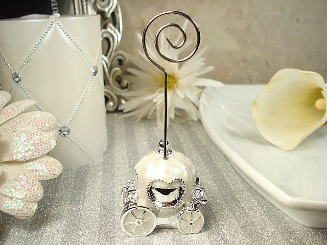 fairytale carriage place card holder cinderella