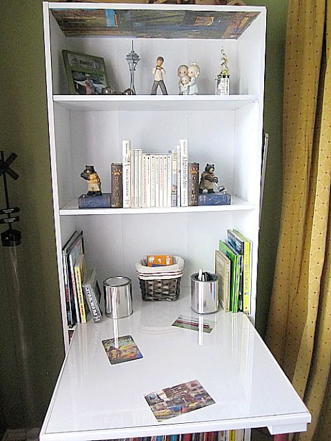 diy bookcase turned desk craft nook pinterest repurpose desks