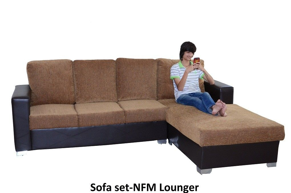 Straight Line Lounger Sofa.Frame Of Sofa Set Nfm Lounger Is Made Up Of  Pinewood(termite Resistant),SLEEPWELL Brand 32 Density P. Foam For Seat .