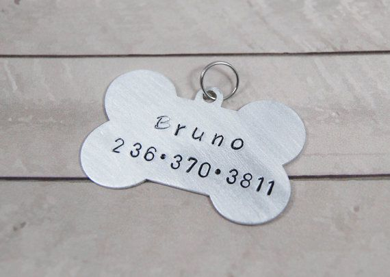 dog tag pet tag personalized pet tag by MeltingHeartsJewelry #dogtag #pettag #personalizeddogtag #handstampeddogtag #meltinghearts