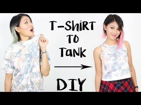 76390ee275c131 DIY  T-Shirt into High Neck Tank Top