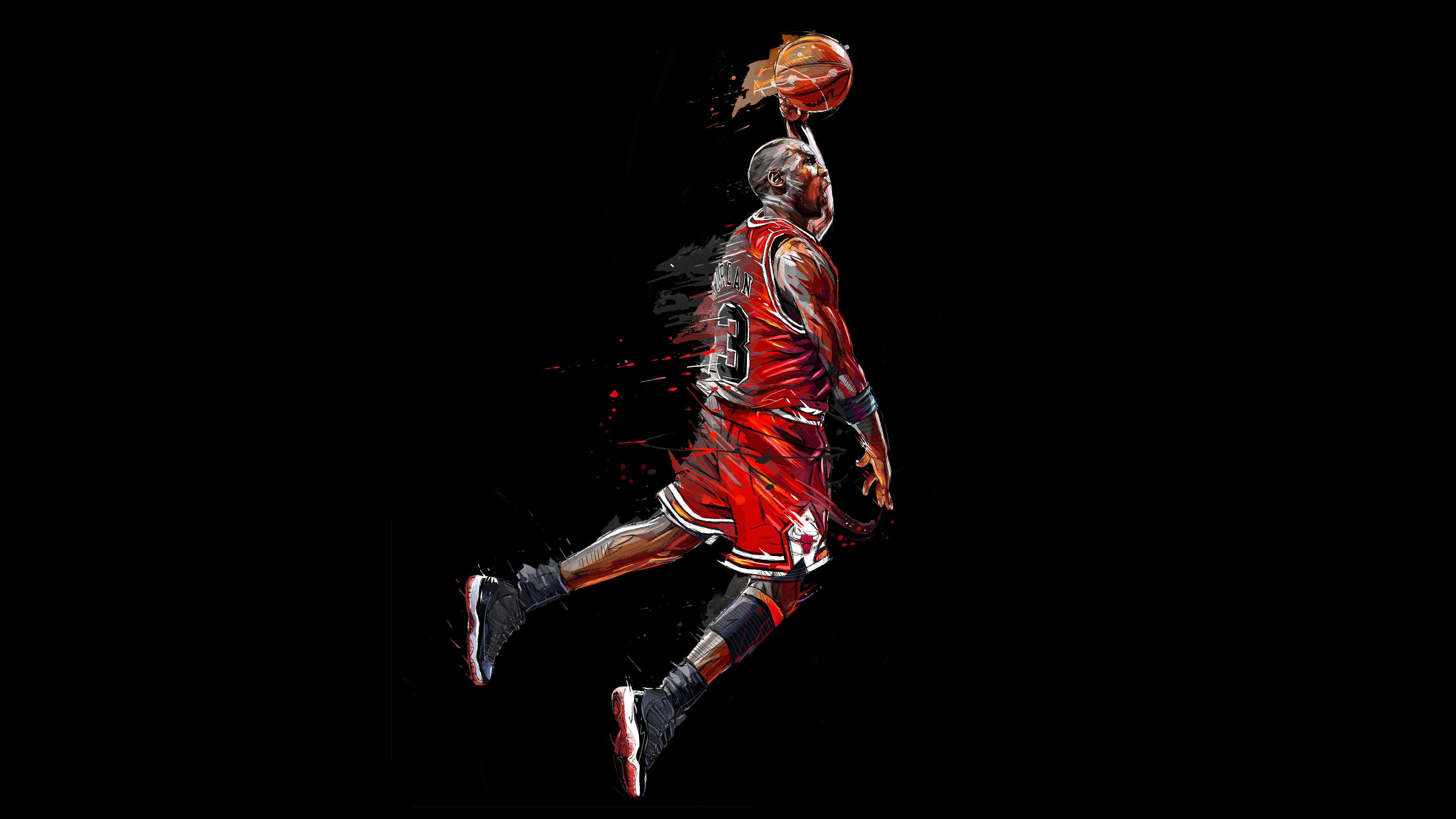 4k Basketball Player Chicago Bulls Michael Jordan 4k Wallpaper Hdwallpaper Desktop In 2020 Michael Jordan Basketball Players Michael Jordan Basketball