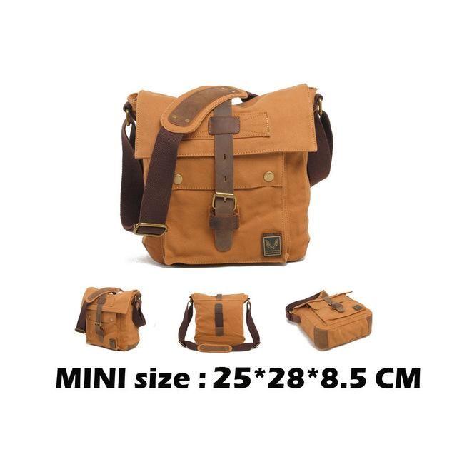 Men Canvas Messenger Bags Designer Brand Vintage Crossbody Bags Laptop Bags I AM LEGEND Military Handbags Satchel Shoulder Bags