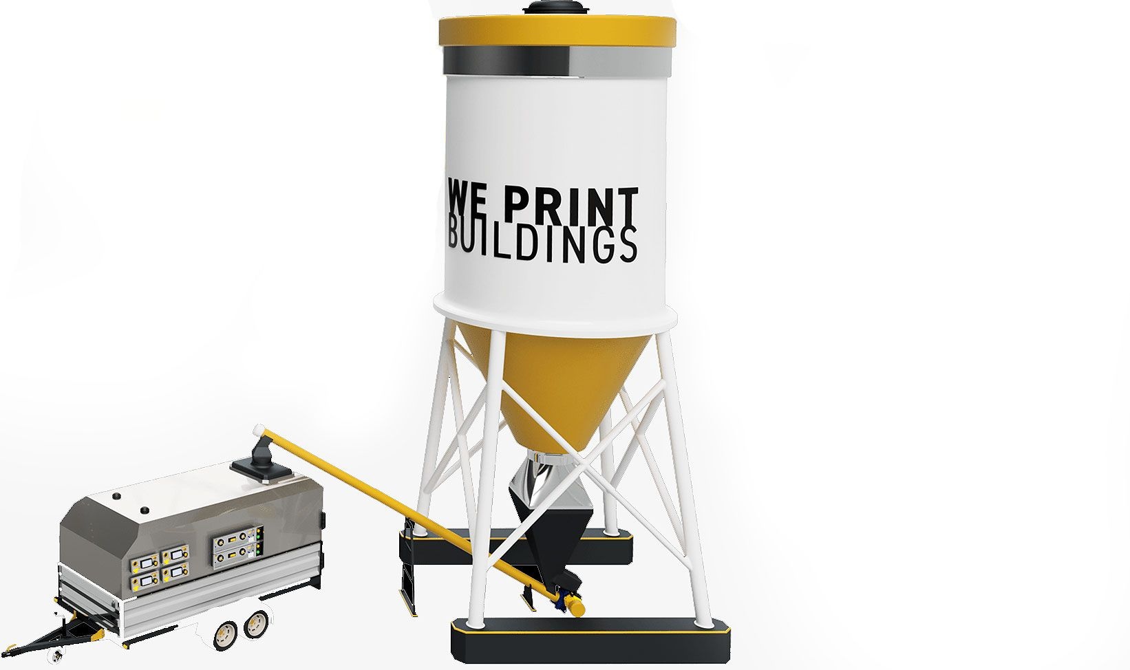 Apis Cor Mobile 3d House Printer Prints While Remaining Inside Of The Building