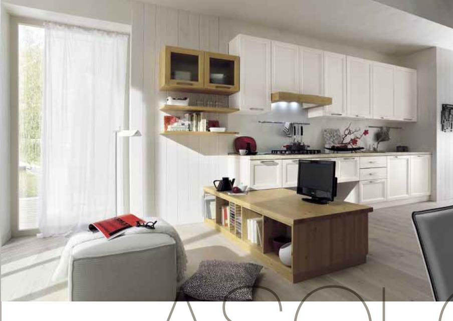 Cucina in legno massiccio personalizzabile, con mobile basso ...