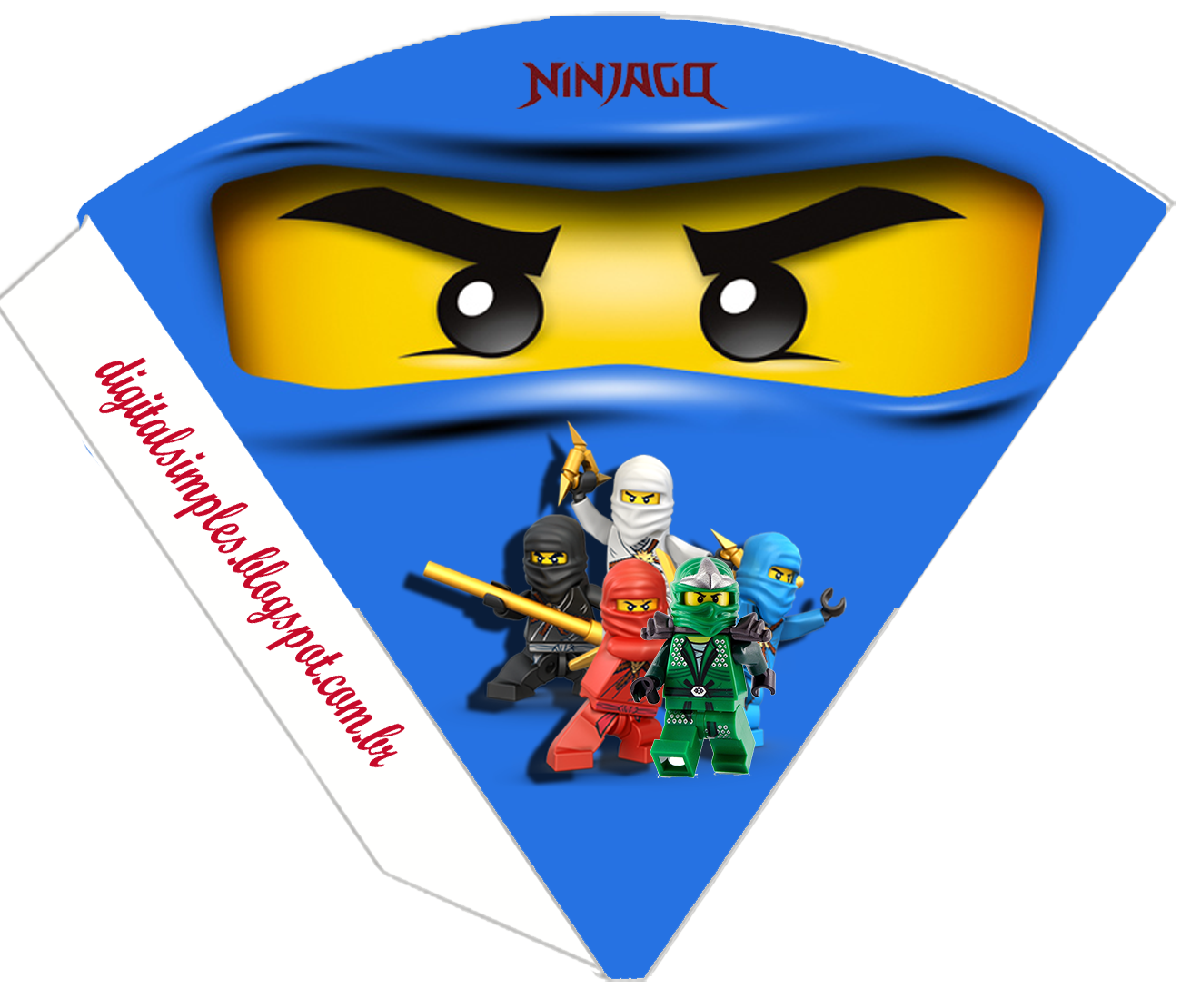 Kit Digital Aniversario Ninjago Para Imprimir