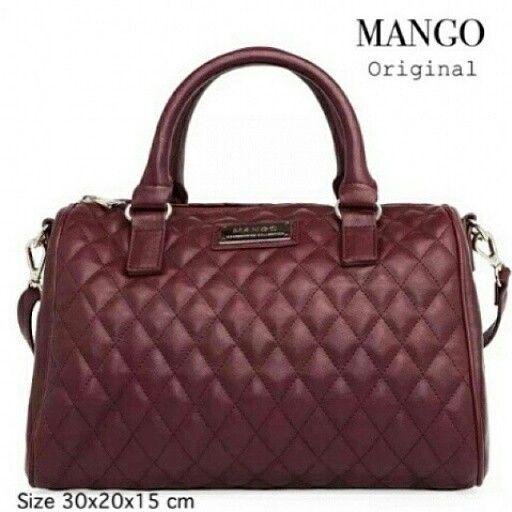 Mango Quilted Bowling Bag Ori Fashion Bag Bags Bowling Bags