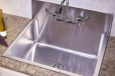 Just Mfg Stainless Steel Single Bowl Drop In Kitchen Sink With Backsplash