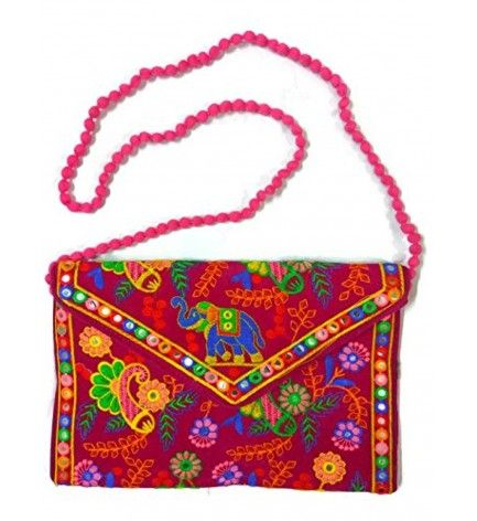 Embroidery Indian Rajasthani Elephant Sling bag Handmade Ethnic ...