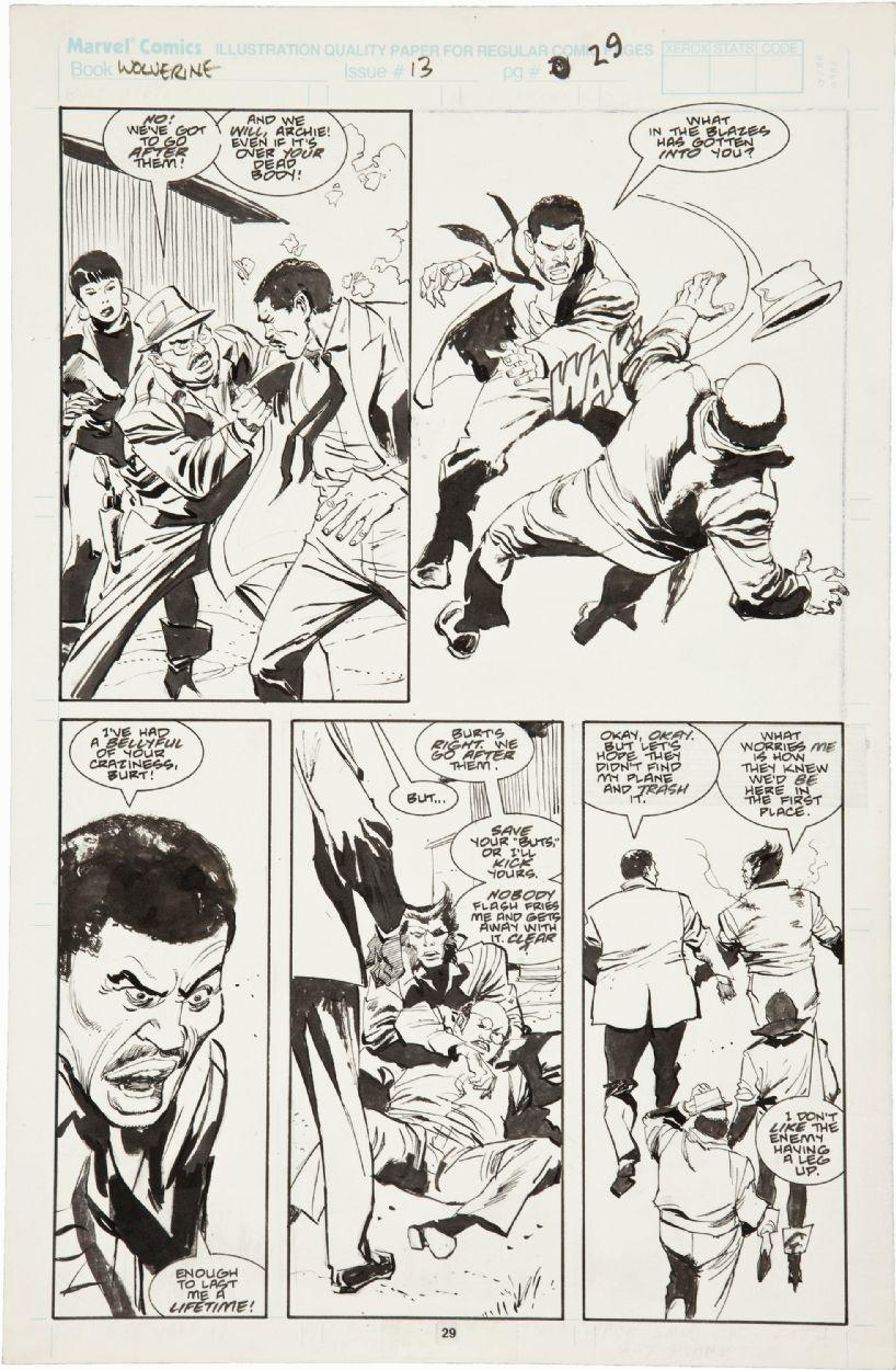 Wolverine 13 Comic Art
