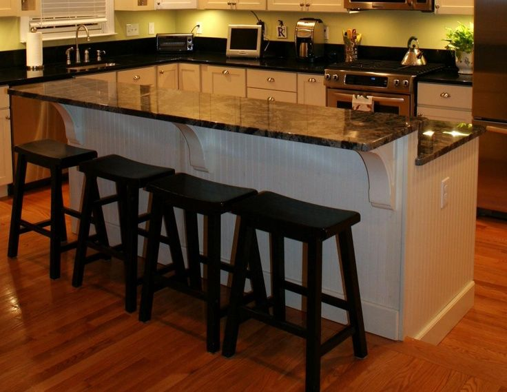 Kitchen Remodel. Step Down, 2 Tier Island Centered On ... | For