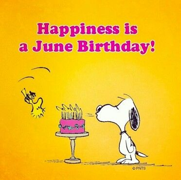 Is A June Birthday D With Images Snoopy Funny Snoopy