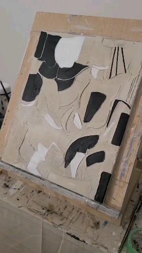 Textured art process video