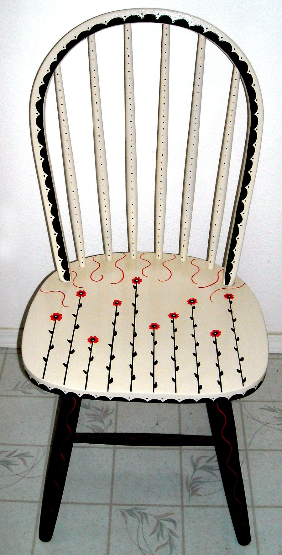 Personal Artwork  Painted Chairs by Carrie Butler at Coroflot com is part of Whimsical painted furniture -