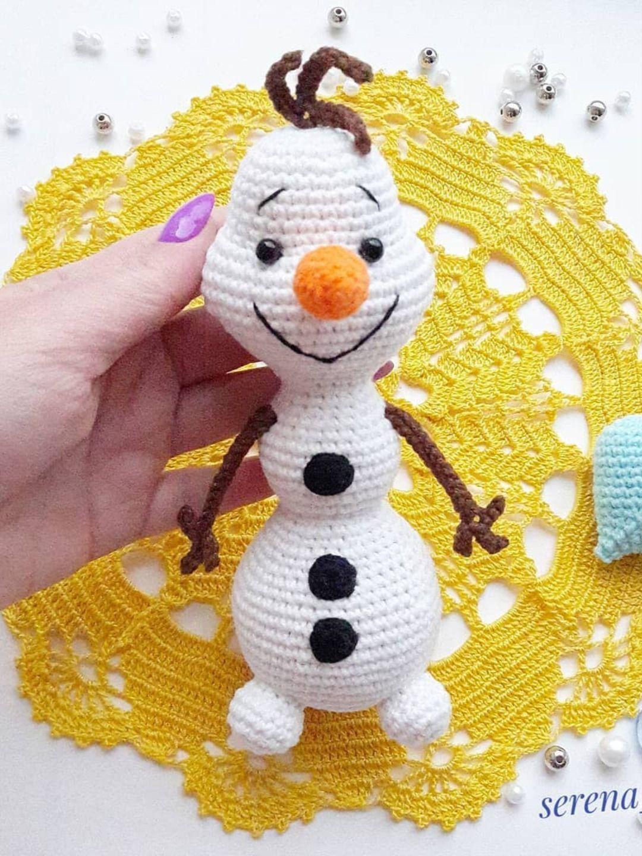 FREE Olaf the snowman crochet pattern