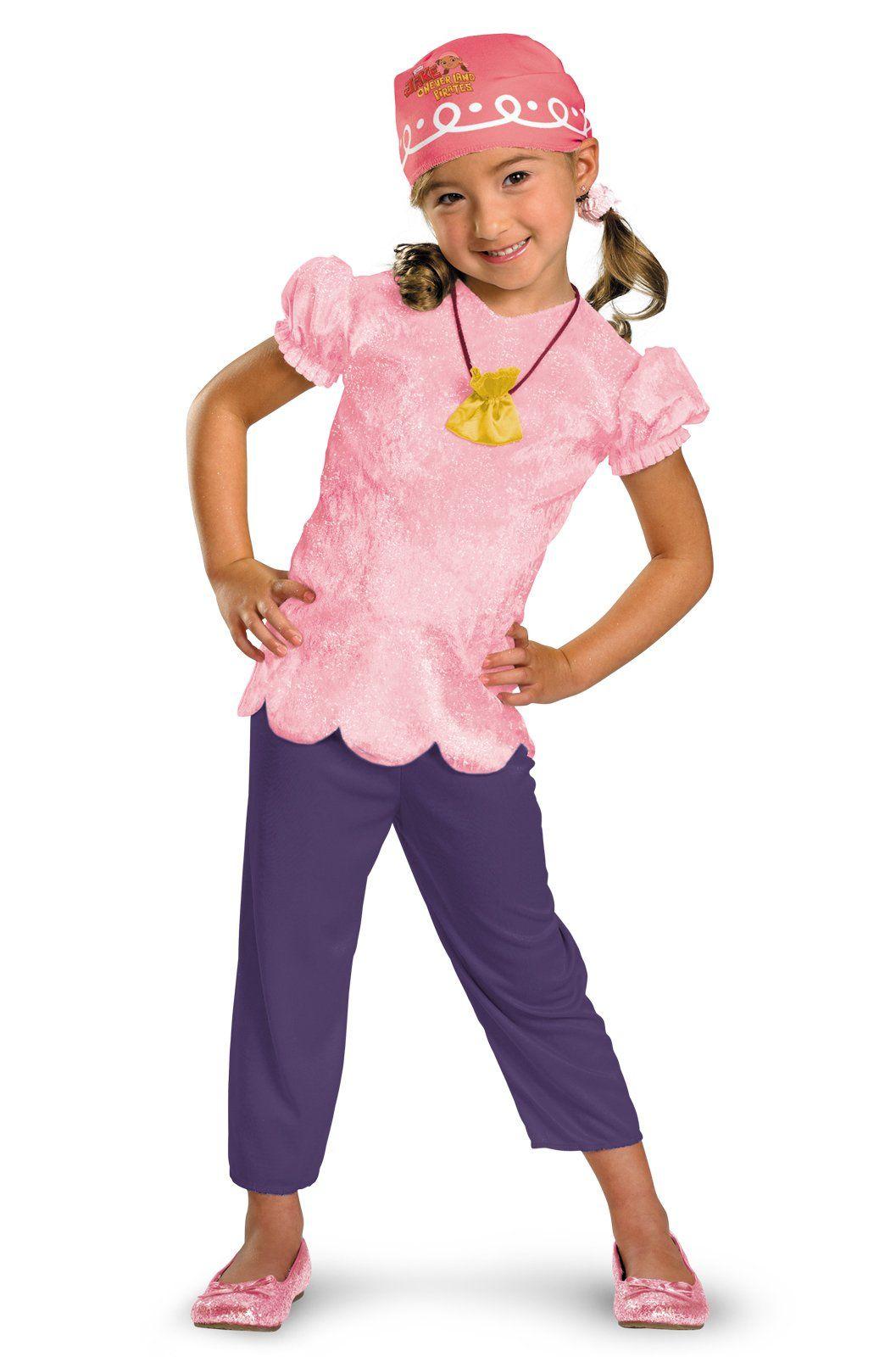 Izzy Tutu Jake Neverland Pirates Fancy Dress Up Halloween Deluxe Child Costume
